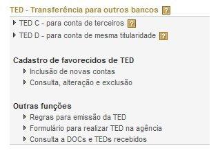TED - Transferência Eletrônica Disponível