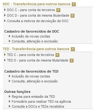 Segurança de transações DOC e TED