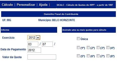 BAIXAR SICALC 2012