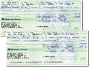 Cheque rasurado